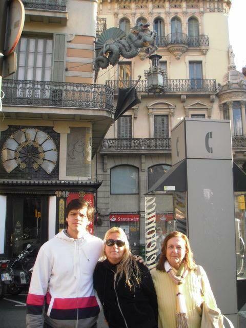 Barcelona - Daniel, mãe e avó