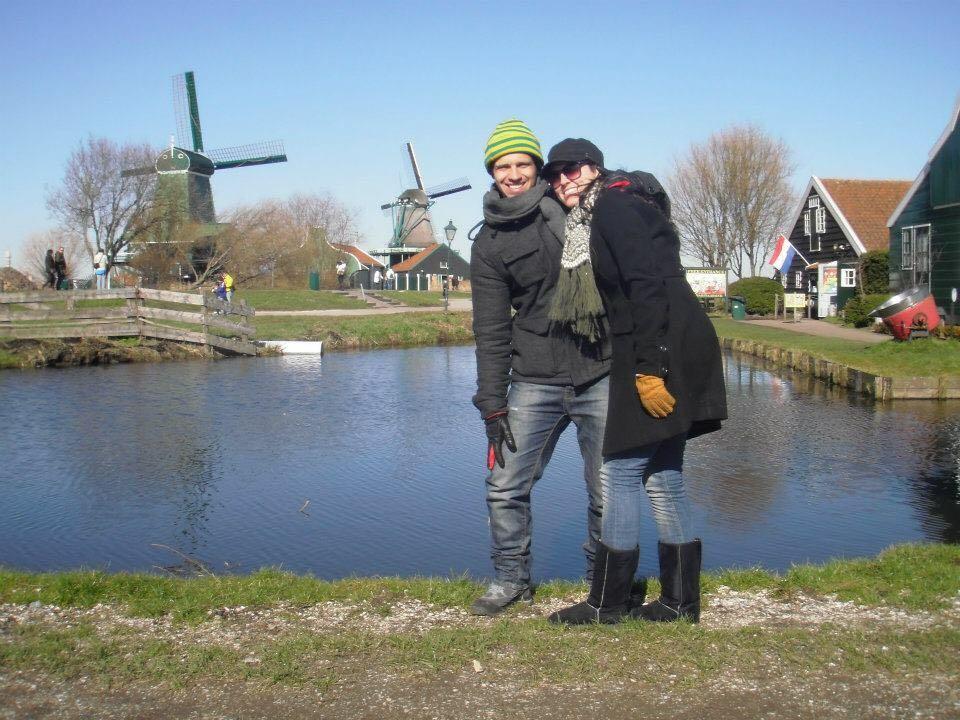 Dany e Daniel em Zaanse Schans