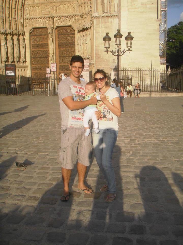 Catedral de Notre-Dame de Paris com a família