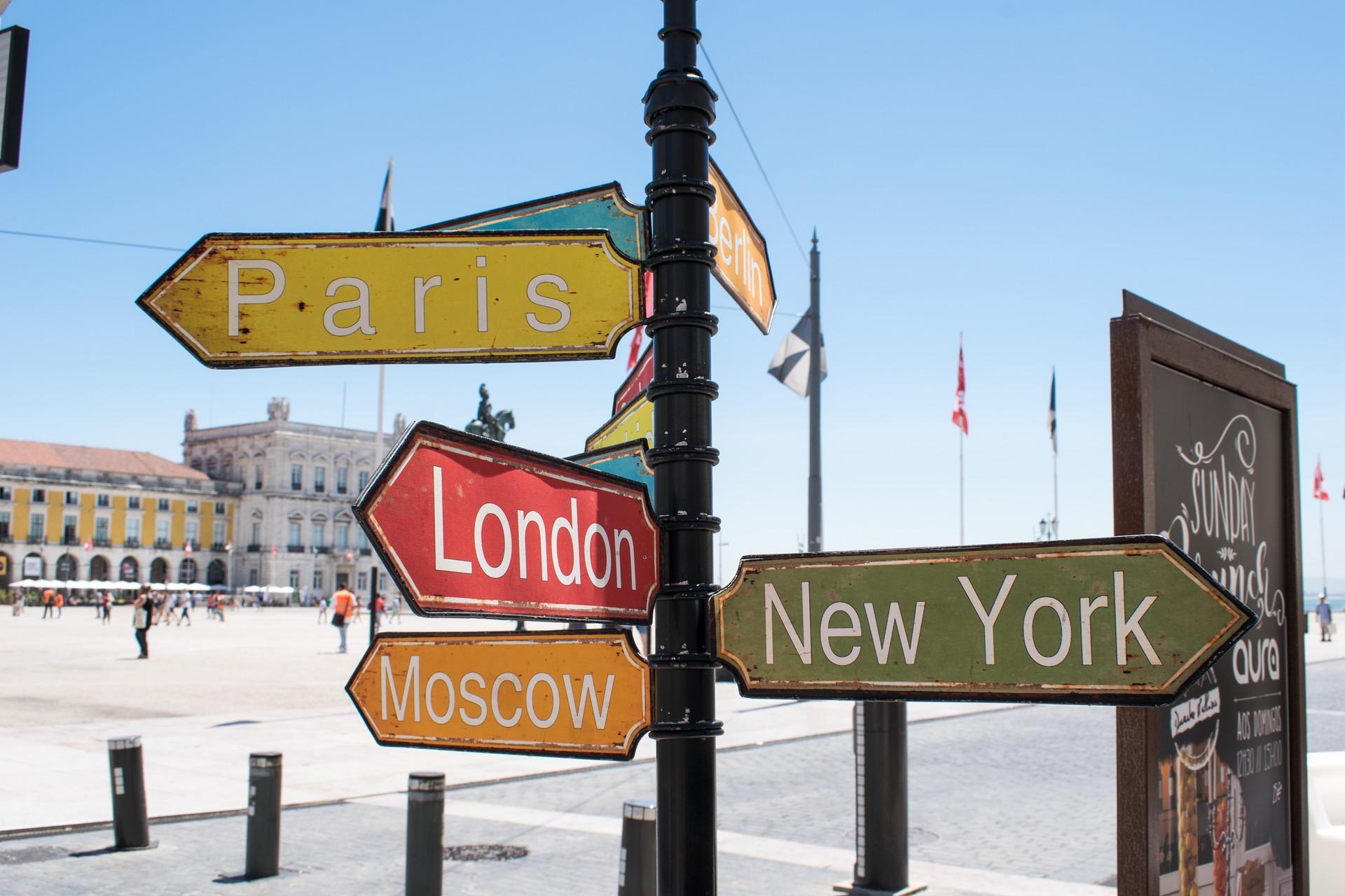 Placas Paris, LOndres, NY