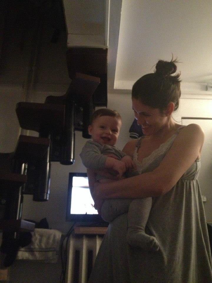 Samuel com a mamãe
